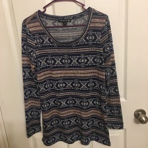 Living doll tunic with aztec stripe print size L